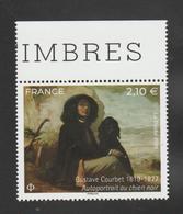 """FRANCE / 2019 / Y&T N° 5333 ** : """"Autoportrait Au Chien Noir"""" (Gustave Courbet) X 1 BdF Haut - Neufs"""