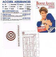 Calendriers Lot De 4 Plastique1984+1984+1984+1985+ - Calendars
