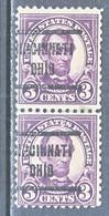 U.S. 555 X 2    Perf.  11   (o)   OHIO   1918-20   Issue - United States
