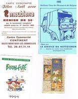 Calendriers Lot De 4  1985+1988+1991+1992 - Calendars