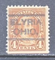 U.S. 556     Perf.  11   (o)   OHIO   1918-20   Issue - United States