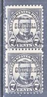 U.S. 559 X 2     Perf.  11   (o)   OHIO   1918-20   Issue - United States