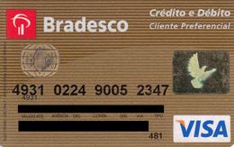 Brasil Bradesco -Visa - Cliente Preferencial - Credit Cards (Exp. Date Min. 10 Years)