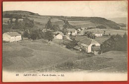88 SAINT-DIE   - Vosges - Vue De Gratin -   Scans Recto Verso - Saint Die
