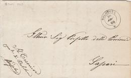 Bolotona. 1869. Annullo Doppio Cerchio  BOLOTONA, Su Franchigia Senza Testo - 1861-78 Vittorio Emanuele II