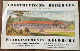 CONSTRUCTIONS MODERNES  / ETS LECORCHE  MULHOUSE ILE NAPOLEON FONTAINEBLEAU / AMIANTE  / BELFORT N12 - France