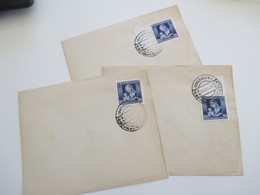 Österreich 1936 Nr. 627 Muttertag 3 Blanko Belege Mit SST Volkstrauertag. Davon 1x Oberrand Und 1x Seitenrand - Briefe U. Dokumente