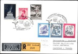 Austria Registered Cover 1976 Innsbruck Olympic Games - Closing Ceremony Posted To Canada (G106-34) - Winter 1976: Innsbruck
