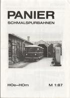 Catalogue PANIER 1980 Schmalspurbahnen HOe HOm Maßstab 1:87 + Preisliste DM - Boeken En Tijdschriften