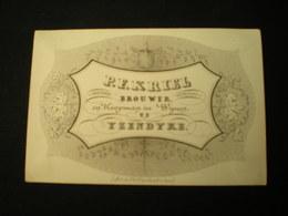IJZENDYKE - P.F. KRIEL - BROUWER - KOOPMAN IN WIJNEN - VISITEKAARTJE 10.5 X 7 - Visitenkarten