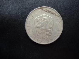 TCHÉCOSLOVAQUIE : 5 KORUN   1969   Date Droite    KM 60      TTB - Tschechoslowakei