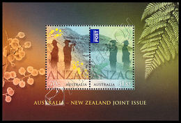 Australia-Nuova Zelanda / Australia-New Zealand 2015: 2 Foglietti ANZAC / ANZAC, 2 S/S ** - Joint Issues