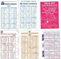 Calendriers Lot De  6  1984+1984+1985+1988+1986+1988 - Calendars