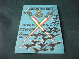 10° RADUNO NAZIONALE ASSOCIAZIONE ARMA AERONAUTICA AEREI VERONA INAUGURAZIONE MONUMENTO AVIATORI 82 - Inaugurations