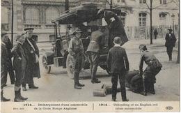 MILITARIA GUERRE 1914 CROIX ROUGE ANGLAISE DECHARGEMENT AUTOMOBILE ELD - Guerre 1914-18