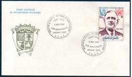 TAAF 1980 10ème Anniversaire De La Mort Du Général De Gaulle N° PA 61   Martin De Viviès- St Paul Et Amsterdam - FDC