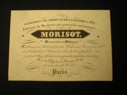 PARIS - RUE DE L'EGOUT AU MARAIS - FABRIQUE DE MOULURES - MENUISIER MORISOT - CARTE DE VISITE 10 X 7 - Frankreich