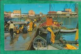 """Oran Le Port 2scans 13-05-1973 Pêcheurs Barque """"Mustapha"""" Bateaux - Oran"""