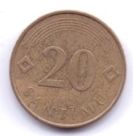 LATVIA 2008: 20 Santimu, KM 22.1 - Latvia