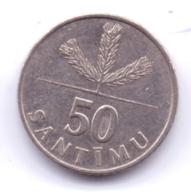 LATVIA 1992: 50 Santimu, KM 13 - Lettland