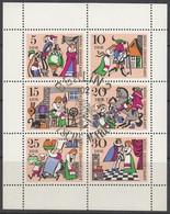 DDR  1323-1328, Kleinbogen, Gestempelt, Märchen: König Drosselbart 1967 - [6] Oost-Duitsland