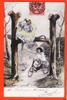 Fant375 LETTRE H Fillette Tricycle Jeune Femme 1905 à BLANCHETTE Rue De Creil Pont Ste-Maxence- ALTEROCCA TERNI 5289 - Donne