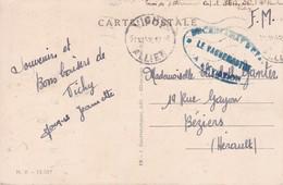 Sur Carte De Vichy Cachet Secrétariat D'Etat à L'aviation  Régime De Vichy 1942 - Guerre De 1939-45