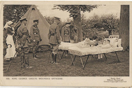 MILITARIA GUERRE 1914 KING GEORGES GREETS WOUNDED OFFICERS 132 - Guerre 1914-18