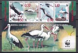 Tr_ Bosnien Und Herzegowina 1998 - Mi.Nr. 132 - 135  - Postfrisch MNH - Tiere Animals Vögel Birds Störche WWF - Storks & Long-legged Wading Birds