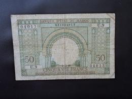 MAROC : 50 FRANCS    2.12.1949     MetK 517 / P 44     Presque TTB+ * - Marocco