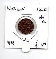 NEDERLAND 1 CENT 1939 WILHELMINA - [ 3] 1815-… : Reino De Países Bajos