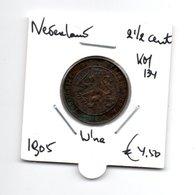 NEDERLAND 2 1/2 CENT 1905 WILHELMINA - 2.5 Cent