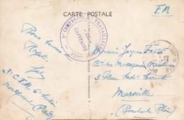 Sur Carte De Royat Cachet 2 Compagnie De Travailleurs Militaires 1940 - Guerre De 1939-45