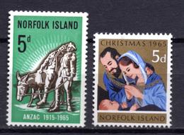 1965 -  NORFOLK ISLAND -  Mi. Nr. 60/61 - NH - (AS2302.49) - Norfolk Eiland