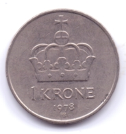 NORGE 1978: 1 Krone, KM 419 - Noorwegen