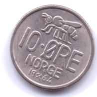 NORGE 1964: 10 Öre, KM 411 - Noorwegen