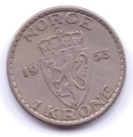 NORGE 1953: 1 Krone, KM 397 - Noorwegen