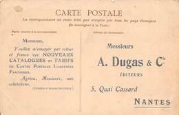 Thème: Carte Postale:        Publicité De Dugas   44 Nantes   (Voir Scan) - Spectacle