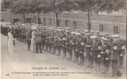 MILITARIA CROQUIS GUERRE 1914 REINE DE WURTEMBERG VISITE LES INFIRMIERS DE LA CROIX ROUGE 59 - Guerre 1914-18
