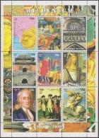 Tchad 1999. Millenium. Croisades, Notre-Dame De Paris, Ming, Dürer, Newton, Napoléon, Indépendance USA - Unabhängigkeit USA