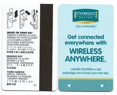 Staybridge Suites U.S.A., Used Magnetic Hotel Room Key Card # Staybridge-1 - Cartes D'hotel