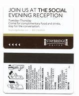 Staybridge Suites U.S.A., Used Magnetic Hotel Room Key Card # Staybridge-3 - Cartes D'hotel