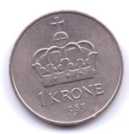 NORGE 1983: 1 Krone, KM 419 - Noorwegen
