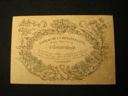 'S GRAVENHAGE - KORTE VIJVERBERG - CAVEAU DE LA RENAISSANCE - WIJNEN LIKEUREN J.A.SMITS - VISITEKAARTJE 11.5 X 7.5 - Visitenkarten