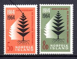 1964 -  NORFOLK ISLAND -  Mi. Nr. 57/58 - NH - (AS2302.50) - Norfolk Eiland