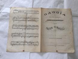 RISOGIMENTO SPARTITO MUSICALE POLIBIO FUMAGALLI GAGGIA MELODIA ELEGANTE 1873. - Partituren