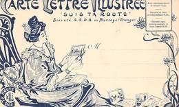 Thème: Carte Postale:       Carte Lettre Illustrée . Suis Ta Route.  Montmorillon Grotte De Lourdes    86   (Voir Scan) - Spectacle