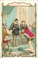 CHROMOS - UN JOUR DES ETRENNES  L'AN 1564 - Old Paper