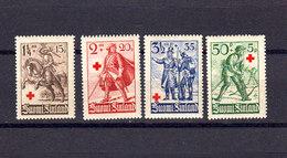 Finlande 1940 Yvert 214 / 217 ** Neufs Sans Charniere. Au Profit De La Croix Rouge Soldats Finlandais. (2203t) - Finlande