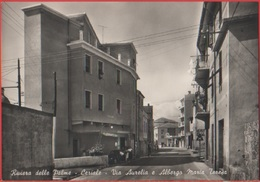 Ceriale (SV). Via Aurelia E Albergo Maria Teresa. Non Viaggiata, Originale - Autres Villes